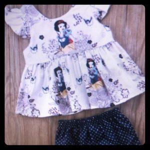 Disney Snow White Cartoon Shorts Top outfit 2 set